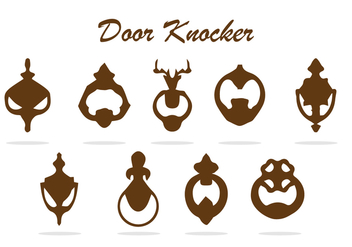 FREE DOOR KNOCKER VECTOR - vector gratuit #360801