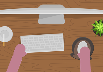 FREE DESK SETUP VECTOR - бесплатный vector #360811
