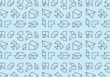 Outline Geometric Pattern - vector gratuit #360821