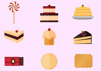 Pancake And Cakes Free Vector Set - Free vector #360911