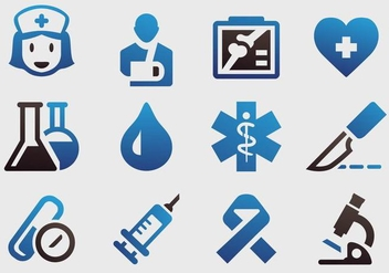 Hospital Instruments Icon Vectors - бесплатный vector #360991
