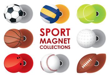 Sport Magnet Collections - Kostenloses vector #361021