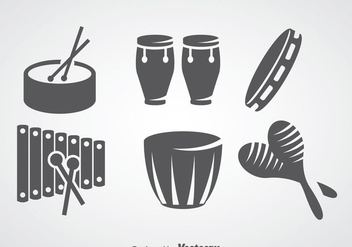 Salsa Music Instrument Vector Sets - vector #361031 gratis