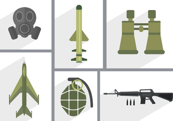 Army Vector Icons - бесплатный vector #361131