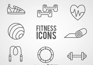 Fitness Outline Icons - vector #361191 gratis