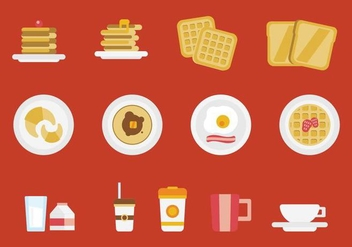 Free Breakfast Vector Set - бесплатный vector #361391