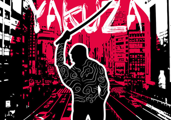 Yakuza Background Illustration Vector - Free vector #361511