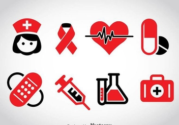 Medical Icons Vector - vector gratuit #361551