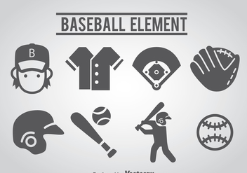 Baseball Icons - vector gratuit #361561