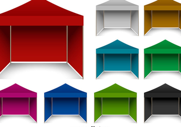 Vector Pop Up Gazebo Set - бесплатный vector #361601