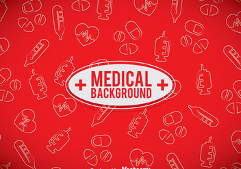 Medical Red Background - Kostenloses vector #361611