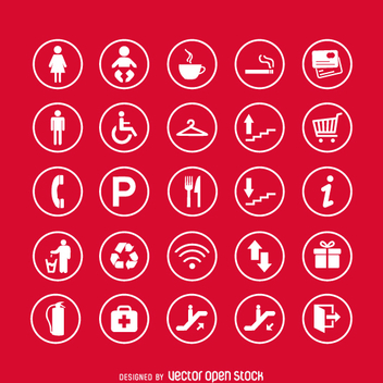 Service signs icon set - Free vector #361721