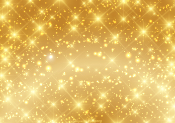Beautiful Gold Sparkle Background Vector - Kostenloses vector #361831