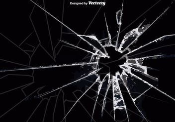 Vector Cracked Glass Background - vector gratuit #361851