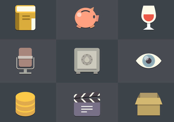 Free Flat Icon Set 01 Vector - Free vector #361901
