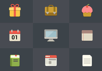 Free Flat Icon Set 07 Vector - Free vector #361981