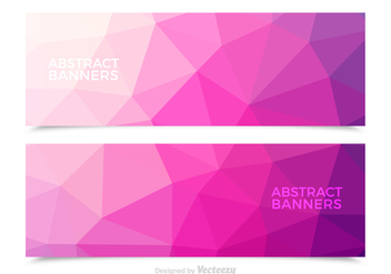 Free Pink Abstract Vector Banners - бесплатный vector #362041
