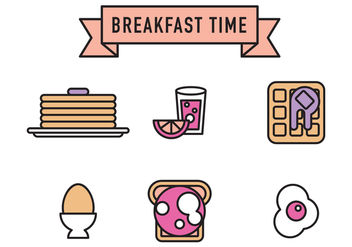 Breakfast Vector Icons - vector gratuit #362091