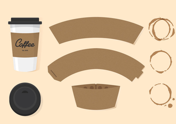 Vector Coffee Sleeve - vector #362141 gratis