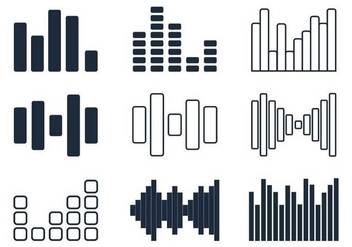 Sound Bars Minimalist Icon - Free vector #362171