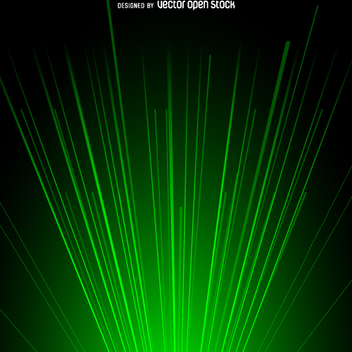 Green laser beam light background - vector gratuit #362221