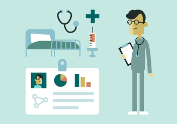 Doctor and Hospital Elements - vector gratuit #362411