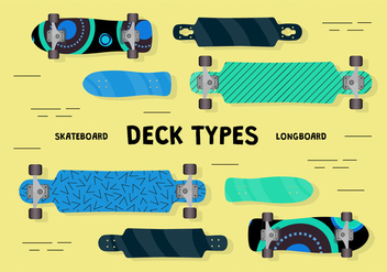 Free Longboard Vector Background - бесплатный vector #362471