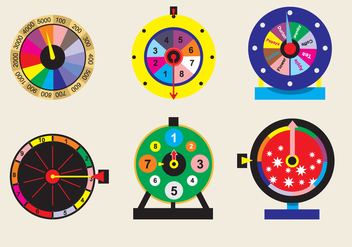 Spinning Wheel Game Vector - vector gratuit #362481
