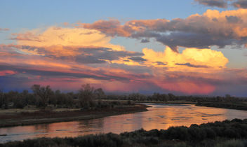 The Green River and Sunset Clouds on Seedskadee NWR - бесплатный image #362571