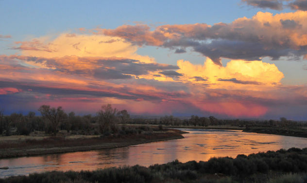 The Green River and Sunset Clouds on Seedskadee NWR - Free image #362571