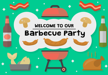 Free Barbecue Party Vector - Kostenloses vector #362631