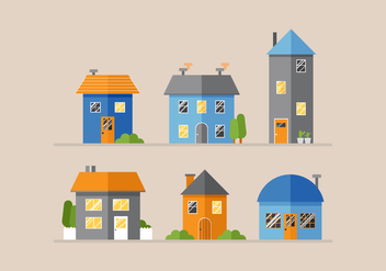 Vector Houses - Free vector #362671
