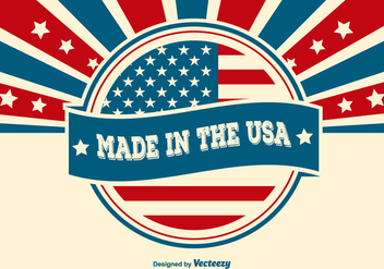 Made in the USA Illustration - vector gratuit #362691