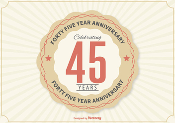 45th Anniversary Illustration - vector #362711 gratis