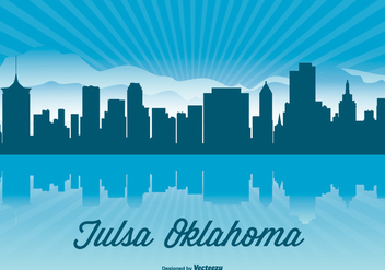Tulsa Oklahoma Skyline Illustration - vector gratuit #362751