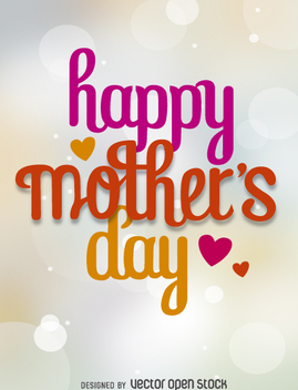Happy mother's day vector - vector #362811 gratis