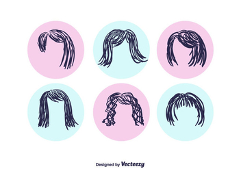 Free Hand Drawn Coiffure Vector - Free vector #362921