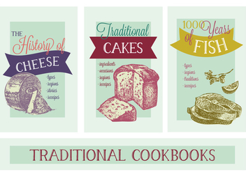 Free Various Thematic Cookbooks Vector Background - бесплатный vector #362931