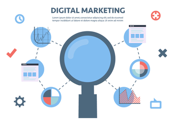 Free Flat Digital Marketing Vector Background - бесплатный vector #362961