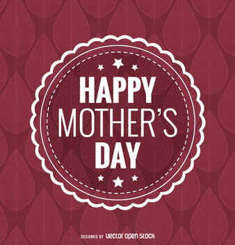 Happy Mother's Day badge - vector gratuit #362981