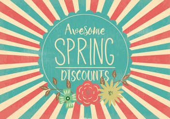 Retro Spring Sale Illustration - vector gratuit #363071