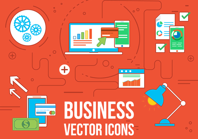Free Vecor Business and Web Icons - vector gratuit #363101