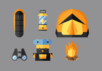 Vector Camping Stuff - Free vector #363161