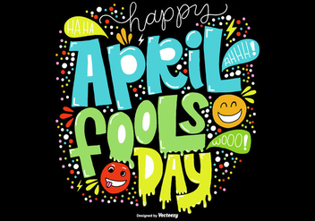Hand Drawn April Fools Day Vector - Kostenloses vector #363201