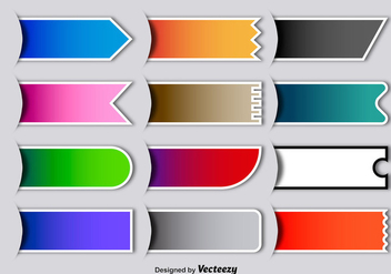 Vector Colorful Blank Labels - vector gratuit #363211