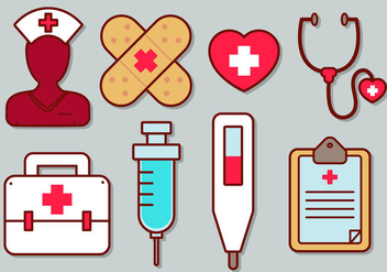 Nurse Vector Icon Set - vector gratuit #363281