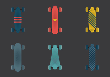 Free Long Board Vector Illustration - vector gratuit #363411
