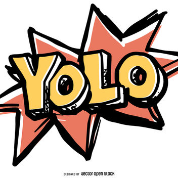 Funny YOLO sign - vector gratuit #363461