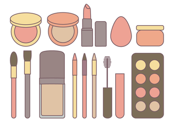 Vector Cosmetics Collection - Free vector #363551