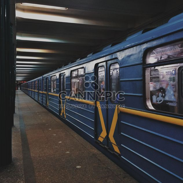 Train at subway station - Free image #363671